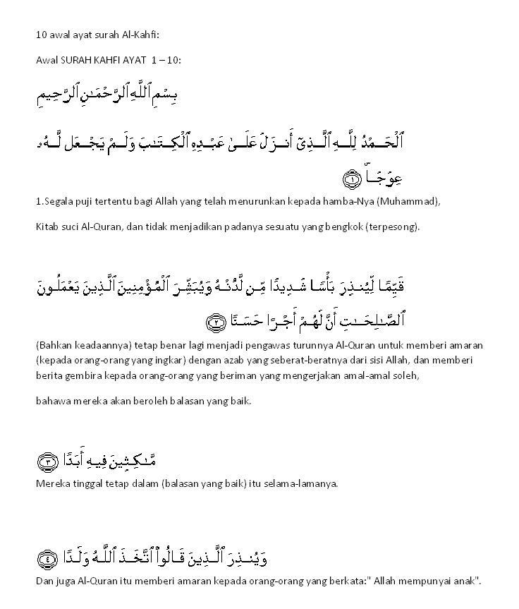 Hayati 10 Ayat Surah Al Kahfi 1khalifah